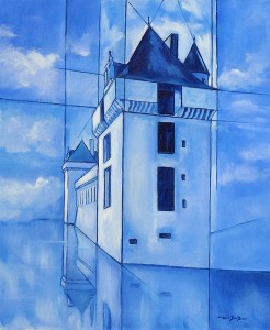 Château de Mornay - 55x46cm - HST