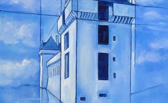 Chateau de Mornay - 55x46cm - HST