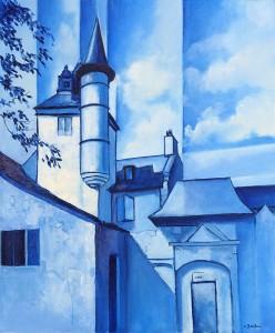 Collonges-la-bleue - 55x46cm - HST