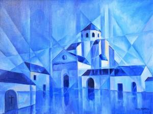 Eglise de Sonnac - 73x54 cm - HST