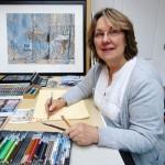 Michèle Baubeau dans son atelier