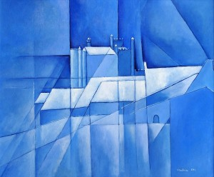 Neige bleue - 61x50 cm - HSB