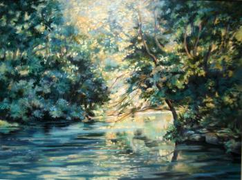 Matin sur la rivière - 30x40 cm