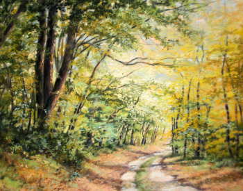 Sur le chemin de l'automne - 50x40 cm