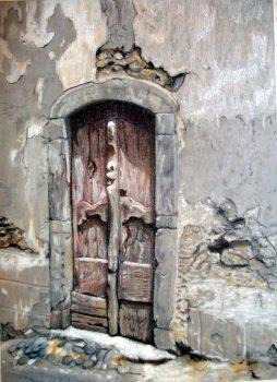 Vieille porte à Arreau - 42x32