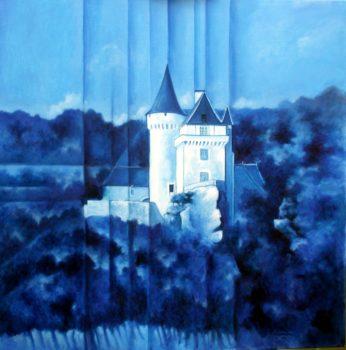 Château de Belcayre - 80x80 cm HST