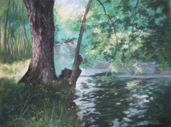 Près de la rivière - 40x30